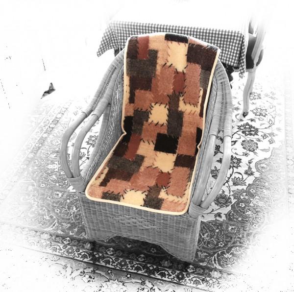 """Sitzauflage Stuhlauflage Sitzschoner """"SCHURWOLLE / NATURHAAR"""""""