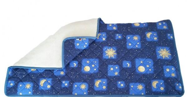 """Decke Oberbett Kuscheldecke """"Sonne-Mond-Sterne"""" 135x200m"""