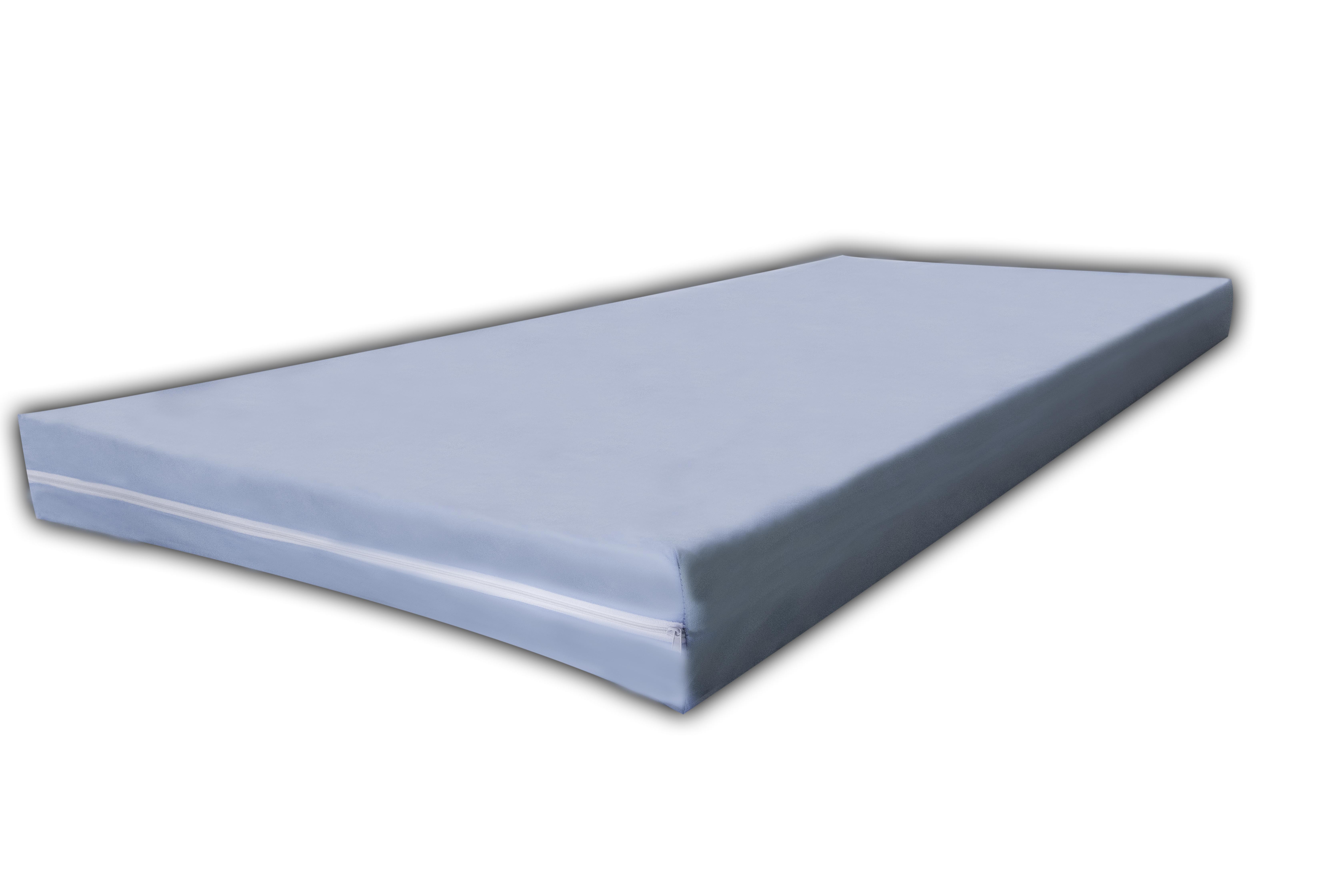 Kinderbettmatratze 7 ZONEN MATRATZE mit Vlies Bezug Blau