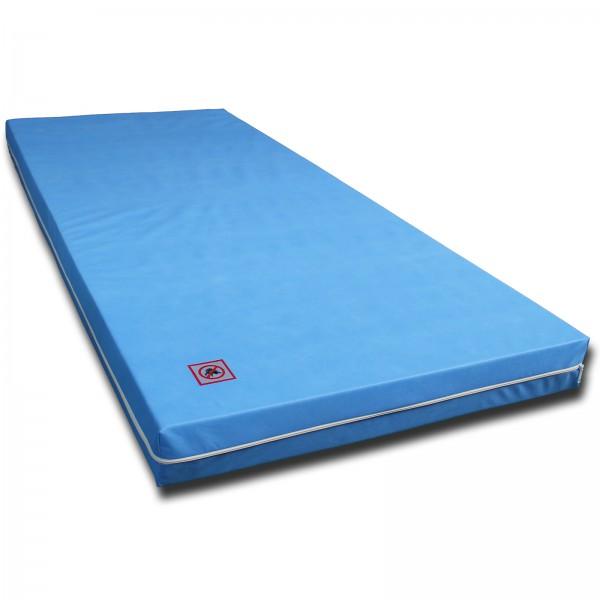 Kinderbett Matratze 7 ZONEN MATRATZE mit Vlies Bezug Blau